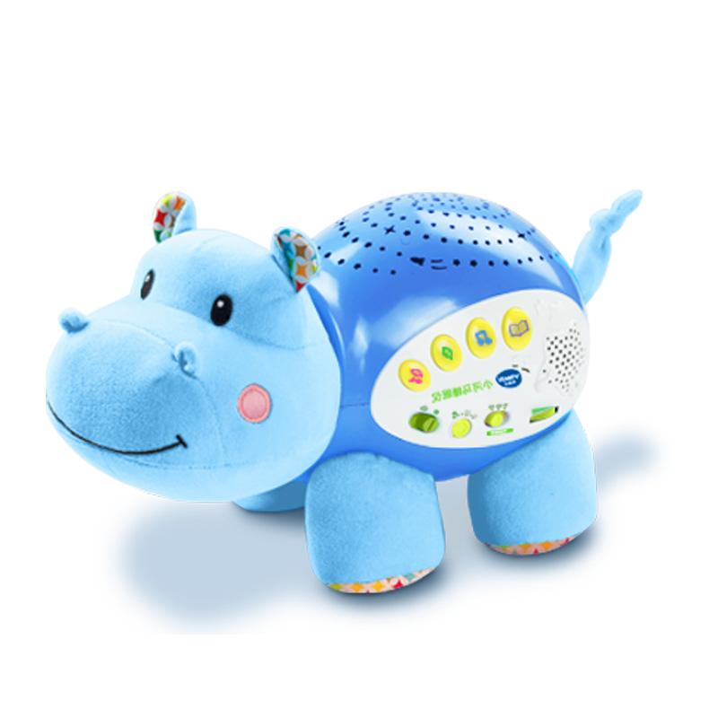 伟易达宝宝安抚小河马睡眠仪音乐星空投影仪婴儿益智早教毛绒玩具