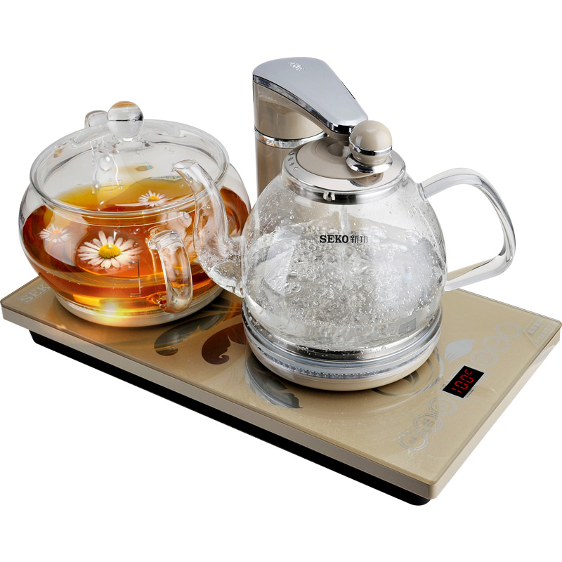 Seko-新功 G11智能恒温全自动抽水电热水壶玻璃家用电茶炉烧水壶