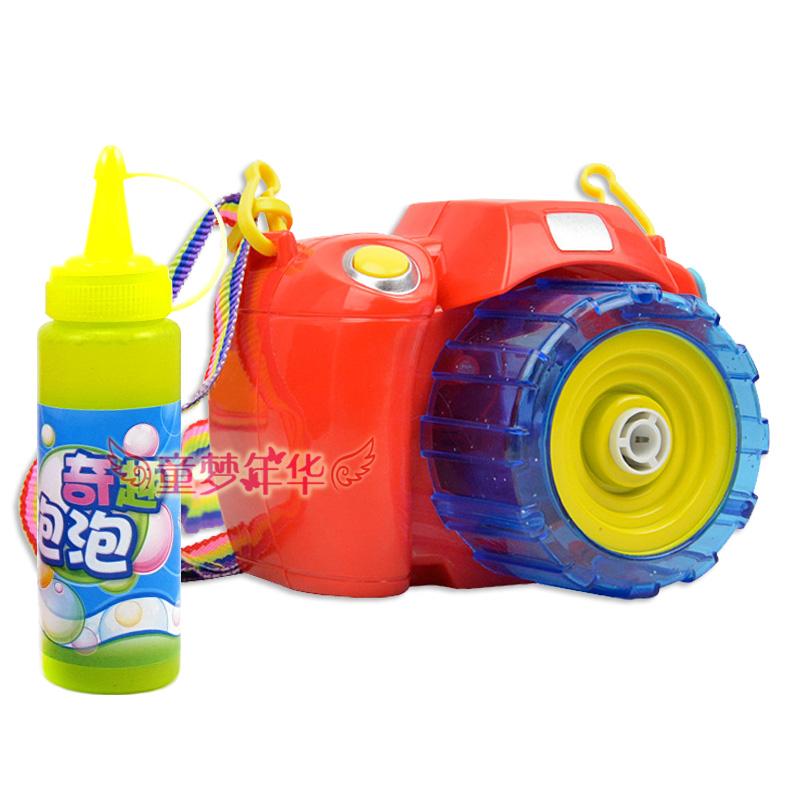 全自动电动音乐泡泡枪会吹泡泡照相机幼儿童玩具女孩男孩5-6-7岁