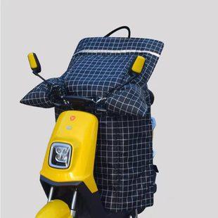 电动车挡风被冬季加绒加厚防风罩小电瓶摩托车双面防水防寒罩春秋