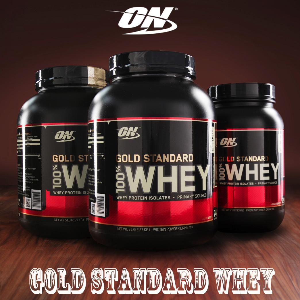 美国ON授权欧普特蒙蛋白粉5磅 ON WHEY 健身增健肌金牌乳清蛋白粉
