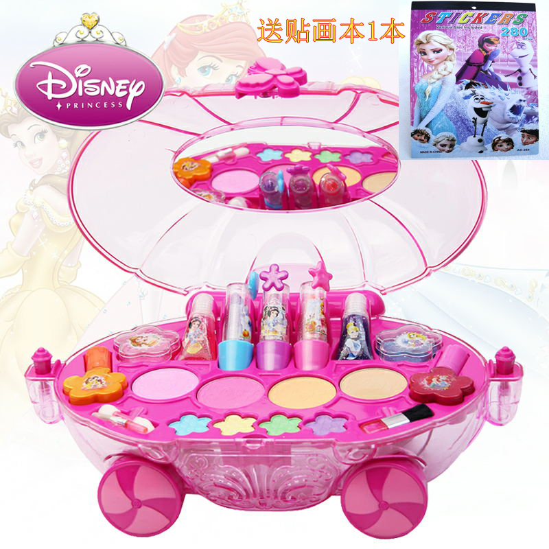 Disney Children's Cosmetics Princess Makeup Box Set Makeup Car Girl Toy Girl Birthday Gift Makeup