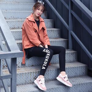 运动鞋女2019夏季新款韩版百搭学生厚底网布透气小白鞋休闲老爹鞋