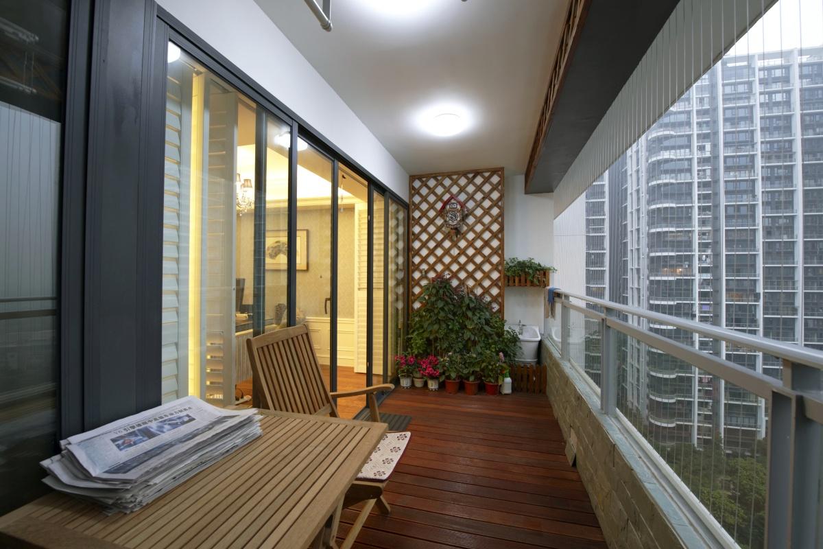 露天 拐角 阳台 走廊 装修 设计 效果图 客厅 室内 家装效果