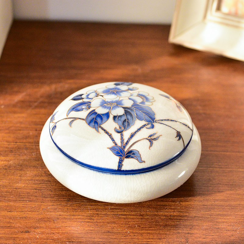 American country creative ceramic furnishing articles store content box jewelry box sitting room the bedroom of the new Chinese style household adornment ornament