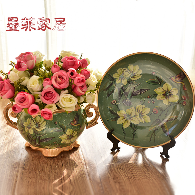 Europe type TV ark, furnishing articles household act the role ofing is tasted ceramic vases, flower art American sitting room porch ark adornment ornament