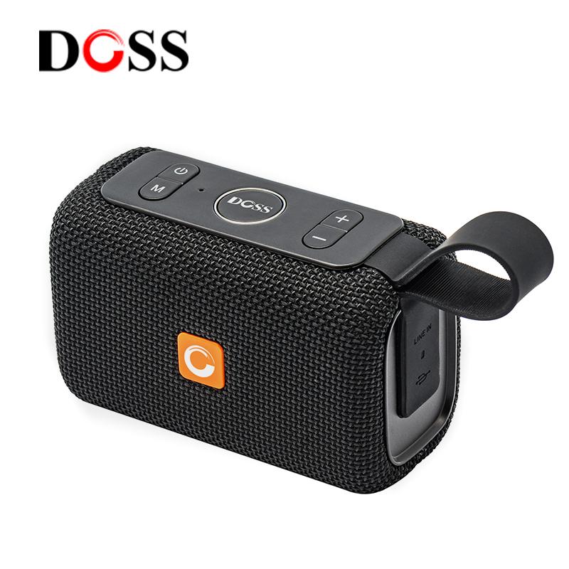 DOSS-德士 DS-2099智能蓝牙音箱AI语音助手声控制无线智能防水户外迷你便携插卡小音响车载超重低音炮