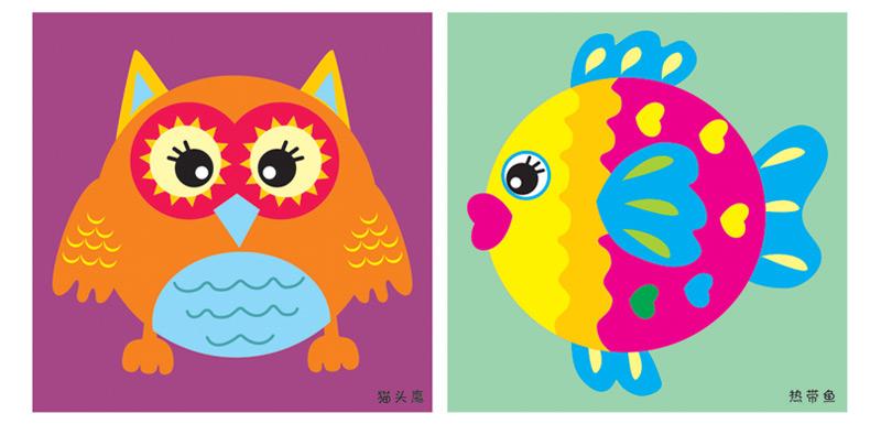 纸盘手工益智纸盘画diy手工制作玩具套装儿童玩具幼儿
