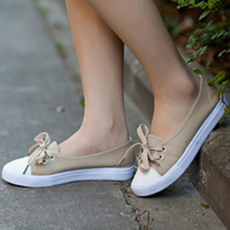 Женские кеды Летом свежий низкой света Холст обувь женщины обувь корейской версии ленивым дыхательного воздуха досуг студент плоская обувь