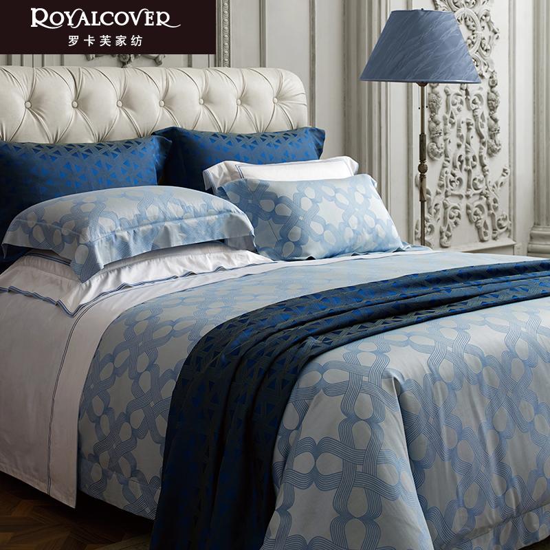 ROYALCOVER-罗卡芙欧式100支双丝光棉色织大提花四件套 塔斯曼