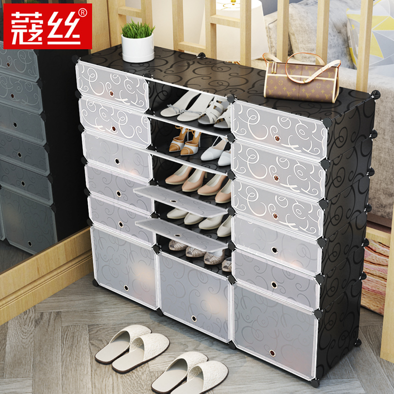 Simple Shoe Economy Dust-proof Dormitory Female Household Space Door Door Storage Cabinet Multi-layer Shelf Shoe Shelf