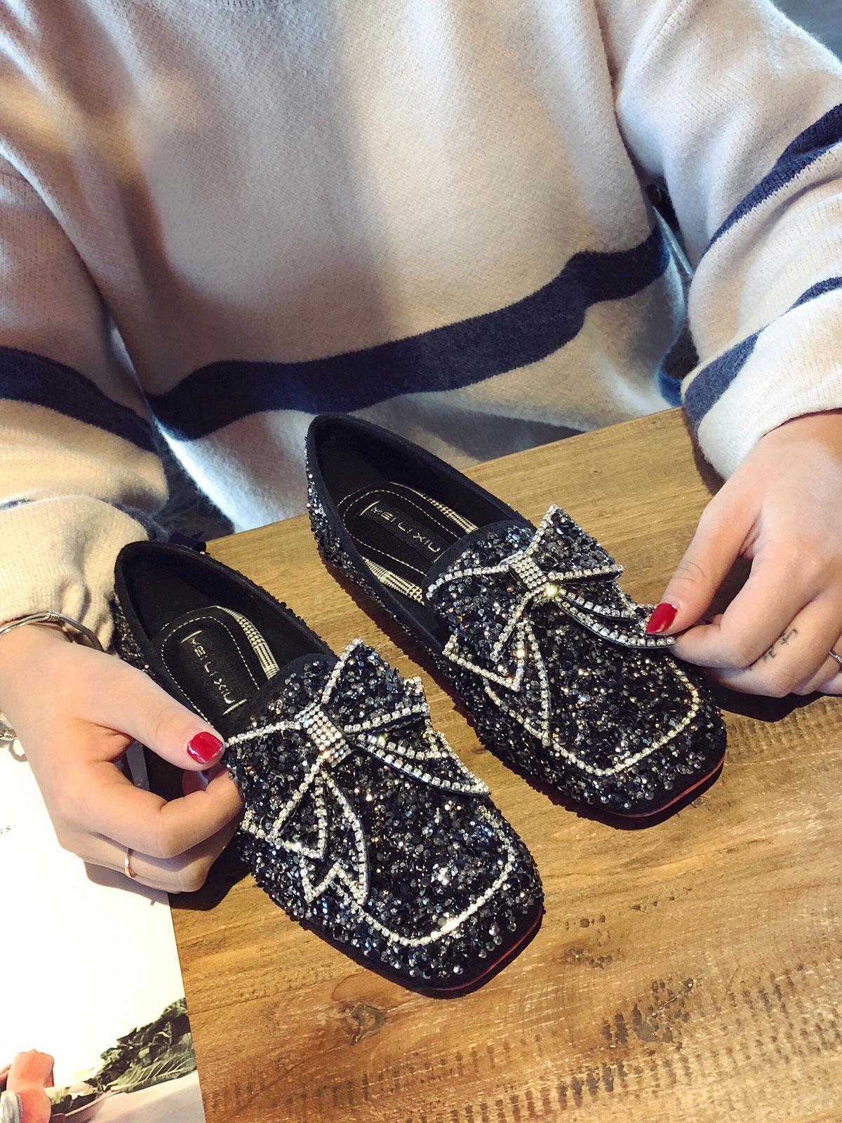 钻叔水钻女鞋