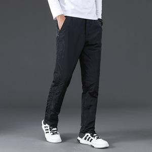 2018新款中老年羽绒裤男加厚外穿保暖长裤中年户外冬季裤子青年冬