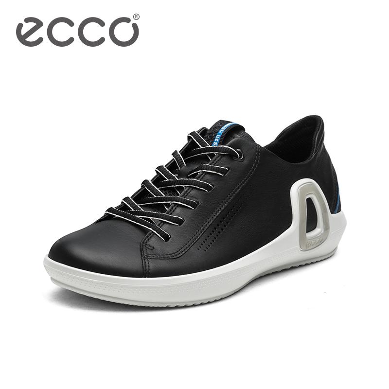 ECCO爱步2018时尚运动板鞋 新款牛仔透气舒适低帮鞋 盈速842564