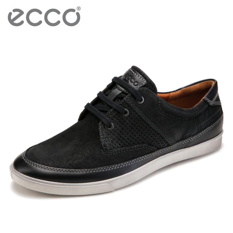 ECCO爱步潮流男鞋 系带休闲低帮牛皮板鞋男 科林535864