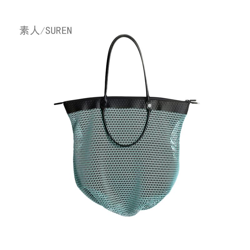 素人原创设计超轻镂空网料春夏单肩手提优雅女大包17BWL1459 1458