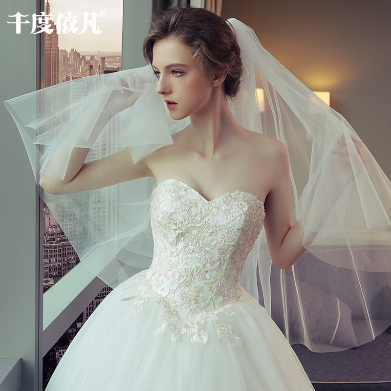 tube top wedding dress 2018 new Korean simple thin Sen Department ...
