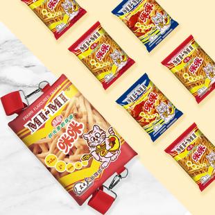 """正宗咪咪虾条联名童年""""食""""光零食包组合920g网红膨化食品七夕"""