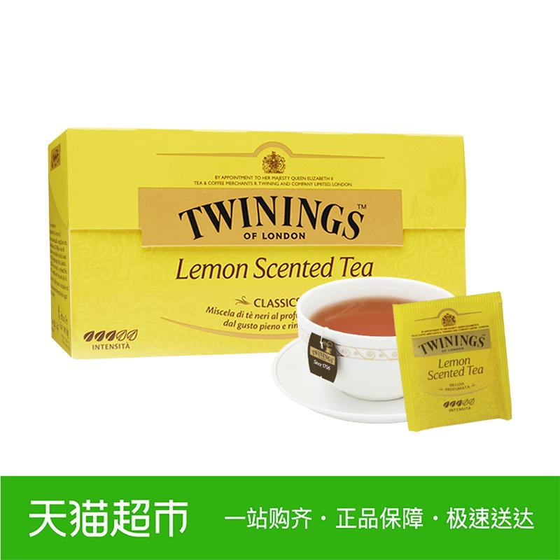 Twinings川宁英国进口茶叶柠檬红茶25袋袋泡茶花茶叶茶包水果茶