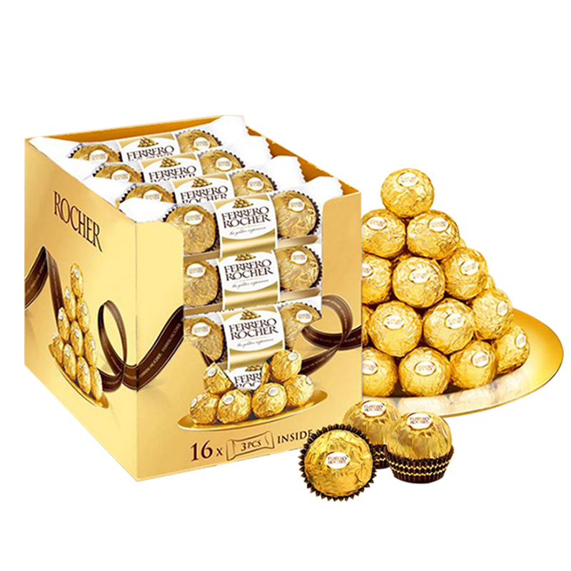 费列罗榛果巧克力零食48粒 3*16条 休闲零食 香浓美味,降价幅度13.7%
