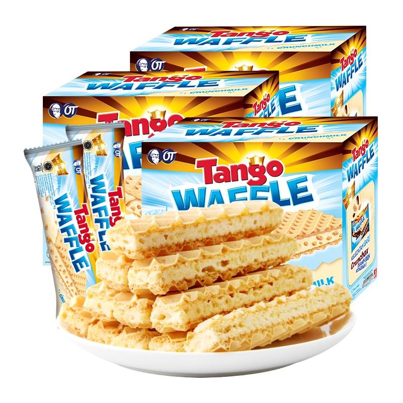 咔咔脆 牛奶夾心威化餅干 160g*3盒 19.9元包郵