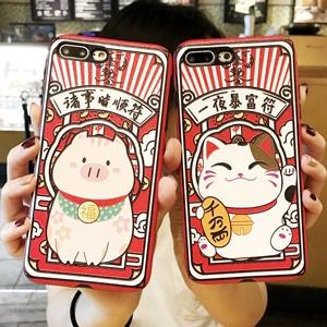 浮雕卡通oppor9s手机壳oppor15硅胶r11s招财猫r11plus个性r17女款
