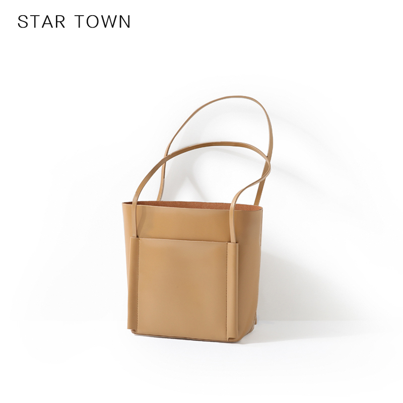 STAR TOWN-繁星小镇复古简约休闲托特包tote单肩手提包时尚通勤包