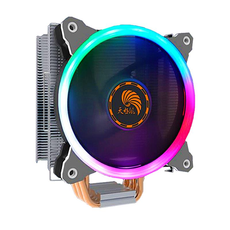 天极风玄霜600 cpu散热器风扇6热铜管电脑台式散热器AMD4静音i5i7