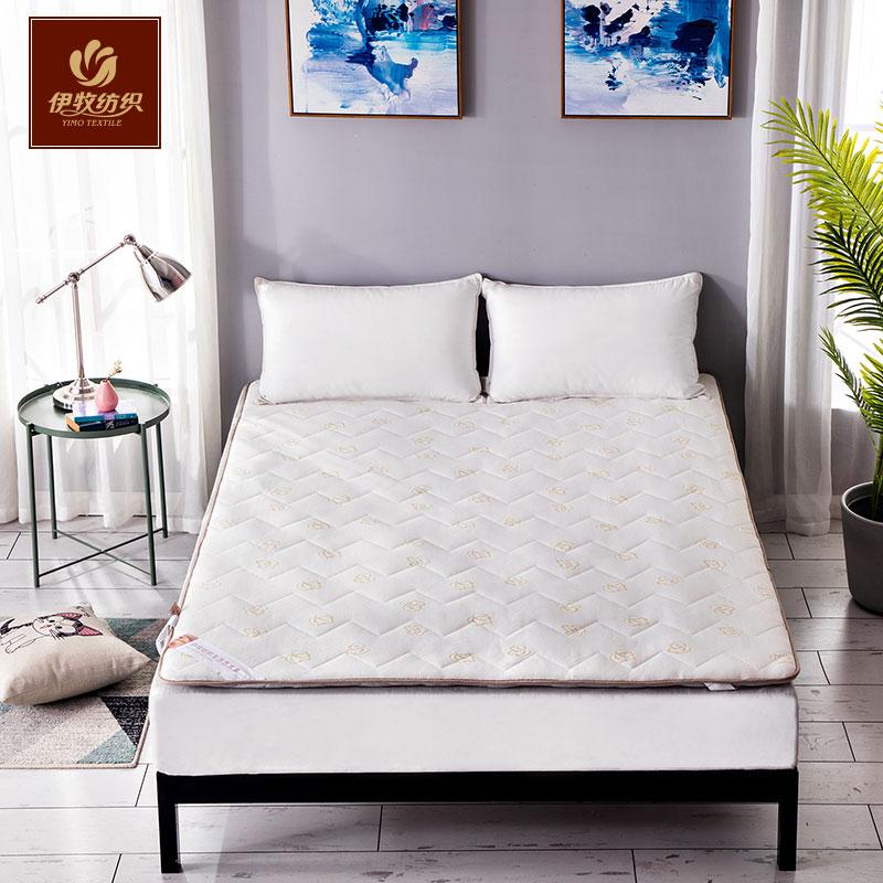 伊牧加厚床垫1.5m1.8米可拆洗榻榻米防滑单双人床褥学生宿舍床垫