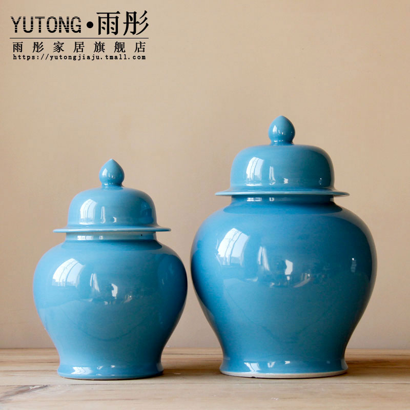 Manual booking with jingdezhen ceramics gold home furnishing articles ceramic decoration with cover to a bigger storage tank