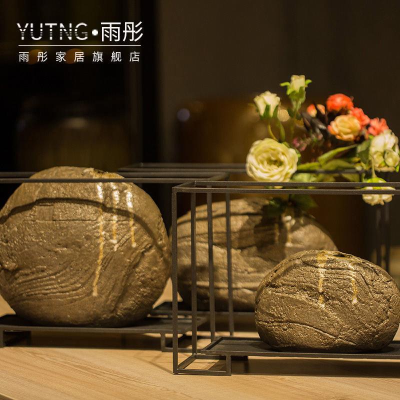 Jingdezhen I and contracted ceramic flower vases American creative living room Nordic home furnishing articles