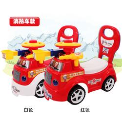 儿童四轮学步车防侧翻滑行车玩具宝宝助步踏行带音乐扭扭车溜溜车