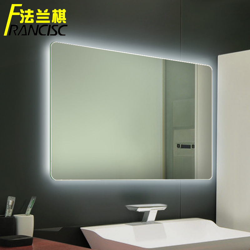 Bathroom mirror with built in light