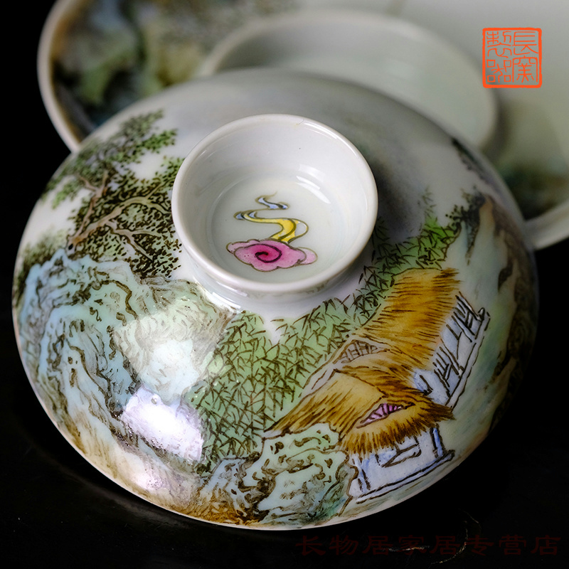 Long up offered home - cooked wen - bo xiong the teacher hand - made in pastel on beautiful figure tureen jingdezhen antique tea cups