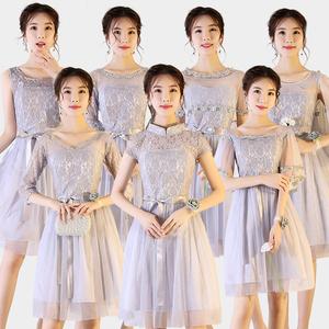 【批发区】马来西亚新加坡台湾伴娘服短款中长款结婚姐妹团闺蜜裙