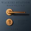 亚固北欧门锁室内卧室房门锁三件套黄古铜美式分体锁简约锁具套装