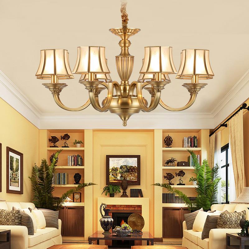 雷士照明欧式全铜吊灯美式LED客厅灯餐厅灯简约现代大厅 预