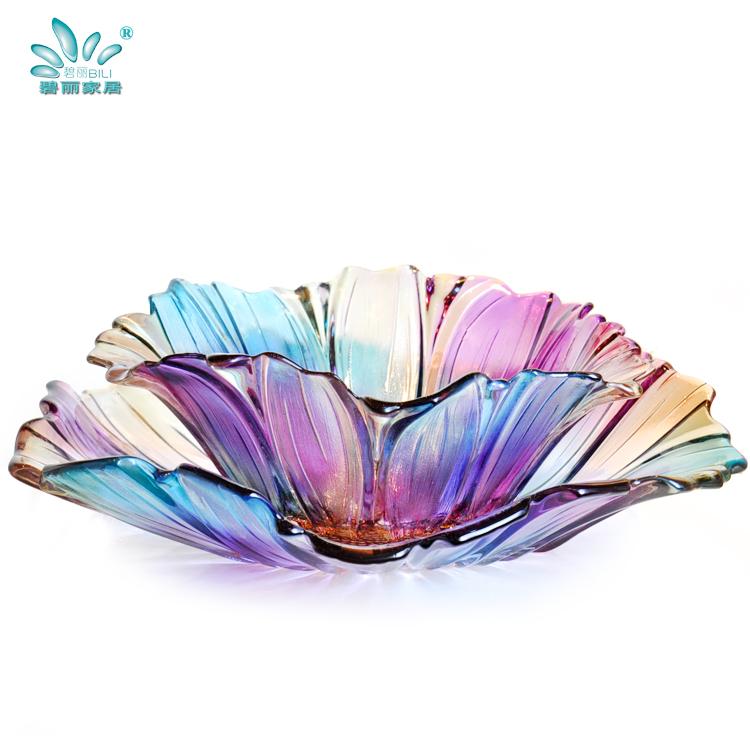 欧式玻璃创意简约大号果盆
