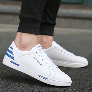 In the autumn of 2017 white men's white shoes casual shoes men's shoes all-match trend of Korean sports shoes tide