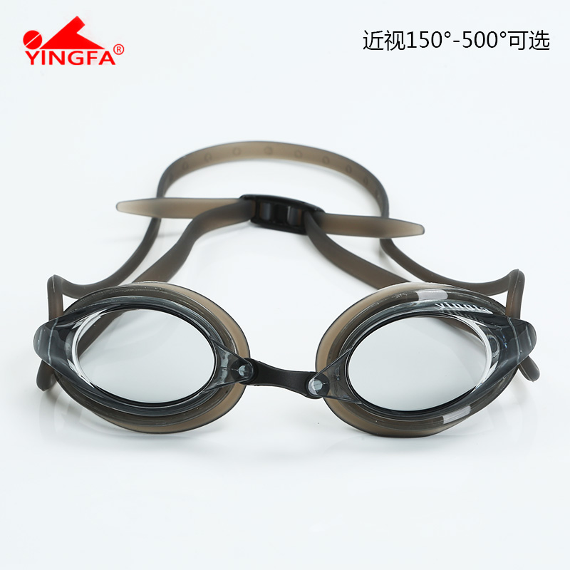 YINGFA英发男女专业高清镀膜近视泳镜竞速防水雾训练比赛游泳眼镜