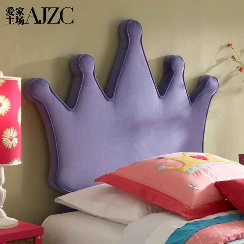 爱家主场女孩布艺床1.2现代简约个性欧式公主床1.5米单人儿童床