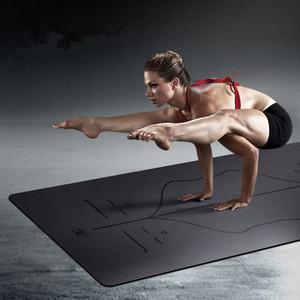 悦步5mm天然橡胶专业瑜伽垫健身垫加宽80cm防滑初学者土豪瑜珈垫