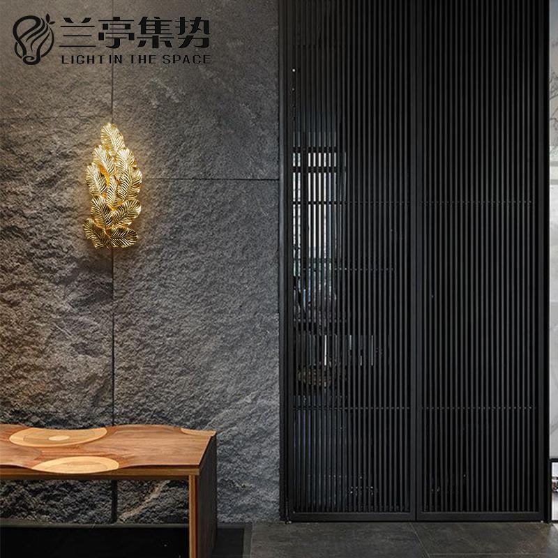 兰亭集势美式全铜壁灯创意铜花客厅餐厅灯具样板房后现代卧室壁灯