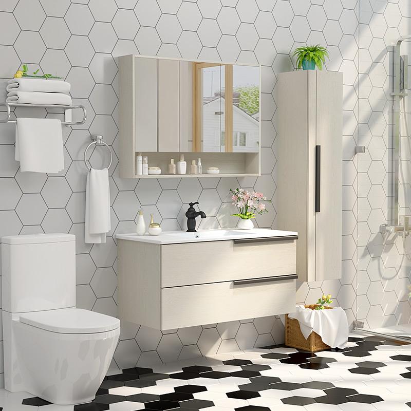 克丽菲儿卫浴浴室柜组合现代简约北欧卫生间洗漱台洗手洗脸盆吊柜