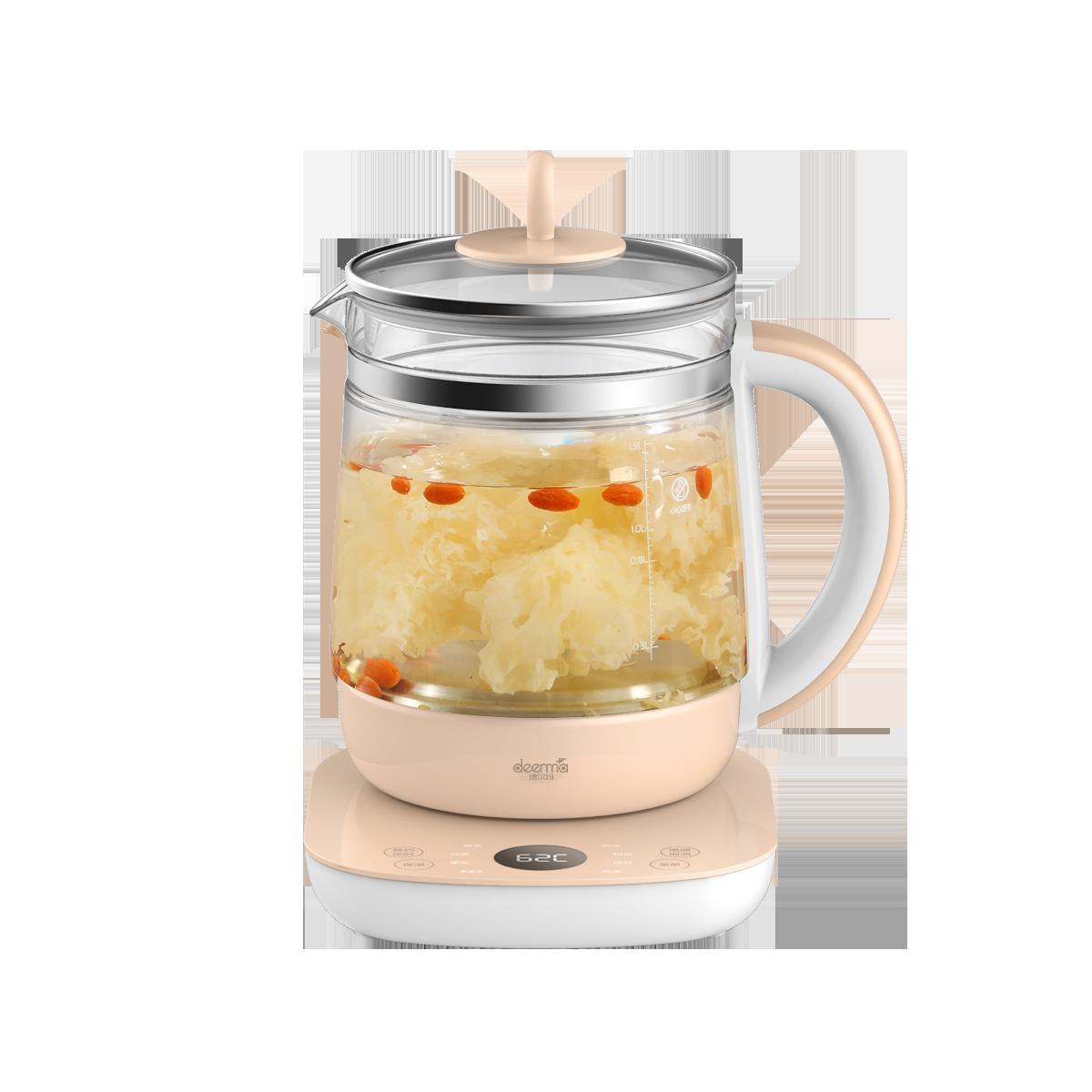 德尔玛养生壶全自动玻璃多功能电热花茶壶家用养身煮茶器办公室