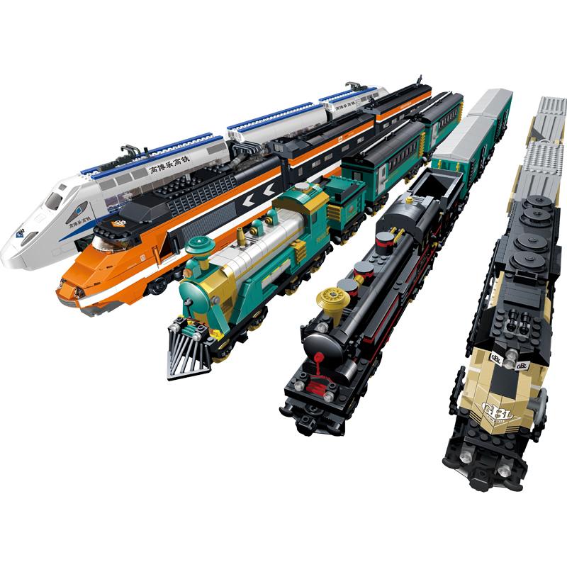 和谐号电动火车樂高社城市拼装积木儿童塑料玩具6-8-10岁12礼物