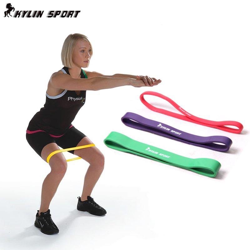 健身房力量训练阻力带 田径训练器材拉力圈 健美弹力带 翘臀圈