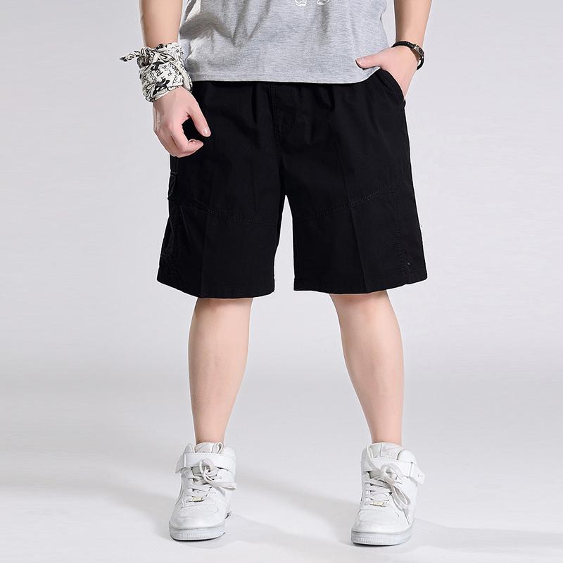 新品短裤夏季休闲加肥加大码宽松五分裤 特大号运动裤男士沙滩裤
