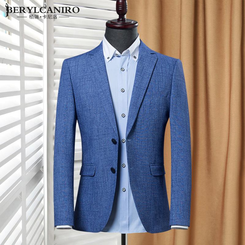 夏季新款时尚帅气休闲小西装男士外套青年韩版修身西服单件上衣薄