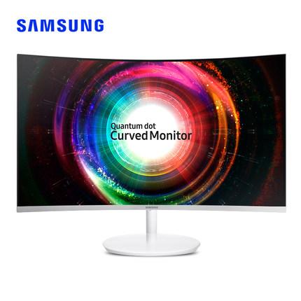 三星曲面C27H711QE 2K显示器125色域显示屏27英寸量子点高清怎么样评价
